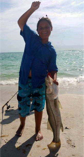 38 inch snook caught by Austin