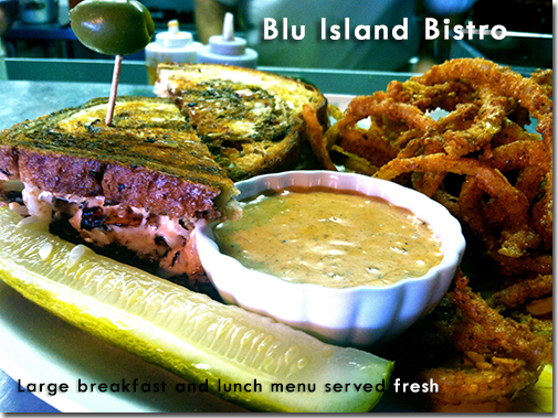 Blu Island Bistro - Large breakfast and lunch menu served fresh.