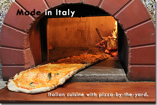 Made in Italy - Italian cuisine with pizza-by-the-yard.
